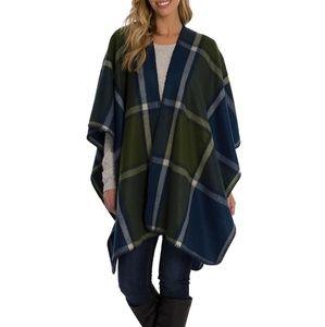NWT Woolrich Cozy Plaid Blanket Wrap One Size